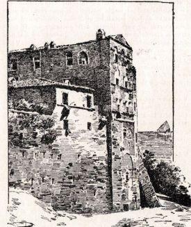 La casa di Gabriele Rossetti in una incisione d'epoca, 1901. Si notino le arcate superiori dell'edificio, presenti ancora nell'edificio contemporaneo.