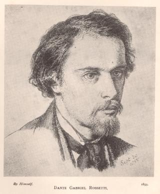 Dante Gabriel Rossetti, autoritratto, 1855