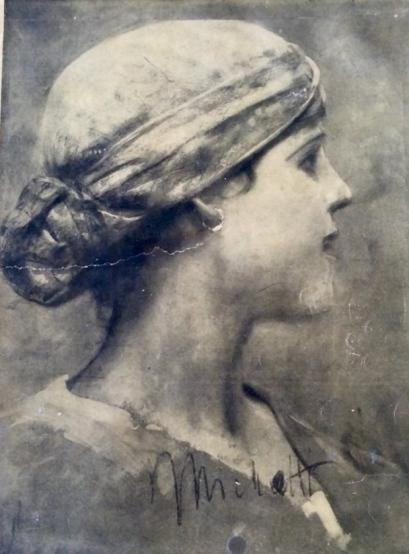 Frontespizio della X Maggiolata Abruzzese 1929 su disegno di Michetti - collezione privata