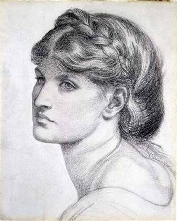 Dante Gabriel Rossetti, ritratto di Alexa Wilding, sua modella preferita, London, Private Collection The Maas Gallery