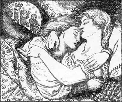 Dante Gabriel Rossetti, Illustrazione per Goblin Market and Other Poems (1862), di Christina Rossetti
