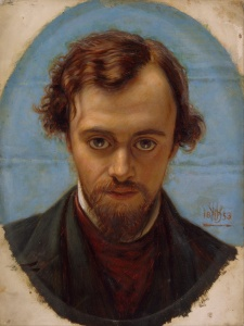 Dante Gabriel Rossetti in un ritratto di William Holman Hunt - 1882