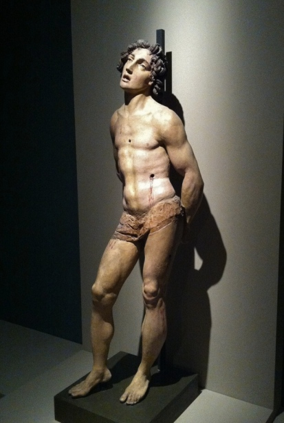 Il San Sebastiano nella mostra di Parigi.