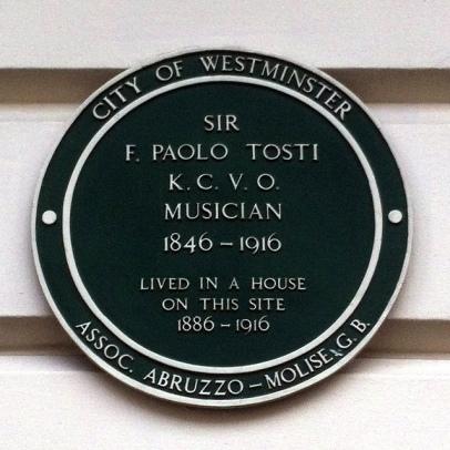 Londra, targa dedicata a F.P.Tosti