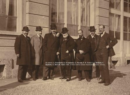 Tosti, d'Annunzio e Michetti - Milano 1906 - Archivio Tostiano Ortona