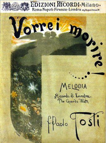 Frontespizio dello spartito disegnato da F.P.Michetti