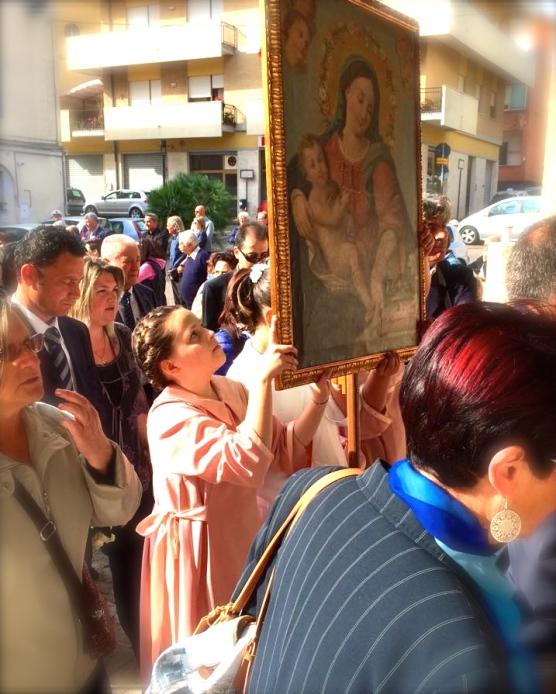 Francavilla 2015, arrivo dei pellegrini a San Franco