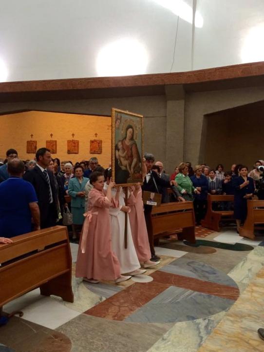 Francavilla al Mare, maggio 2015, arrivo dei pellegrini