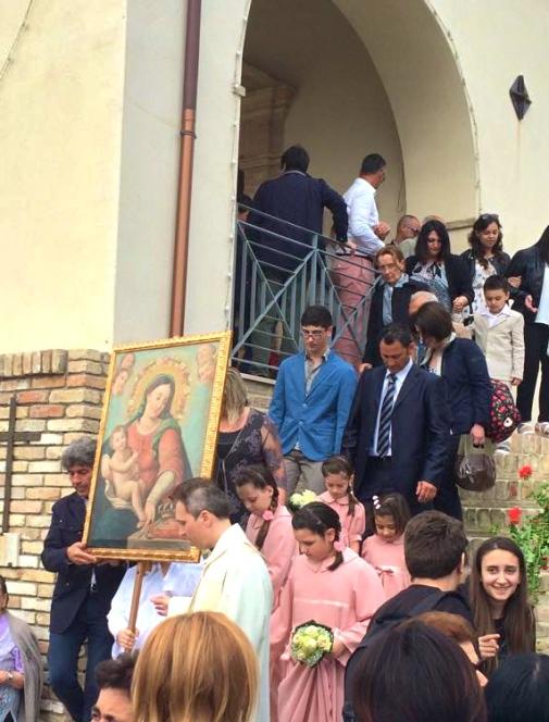 Francavilla 2015, arrivo dei vacresi