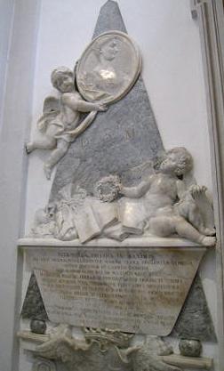 Roma, chiesa di Sant'Egidio, monumento dedicato a Petronilla Paolini Massimi