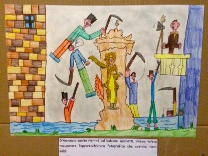 L'aneddoto di Michetti e D'Annunzio nei disegni dei bambini di Miglianico