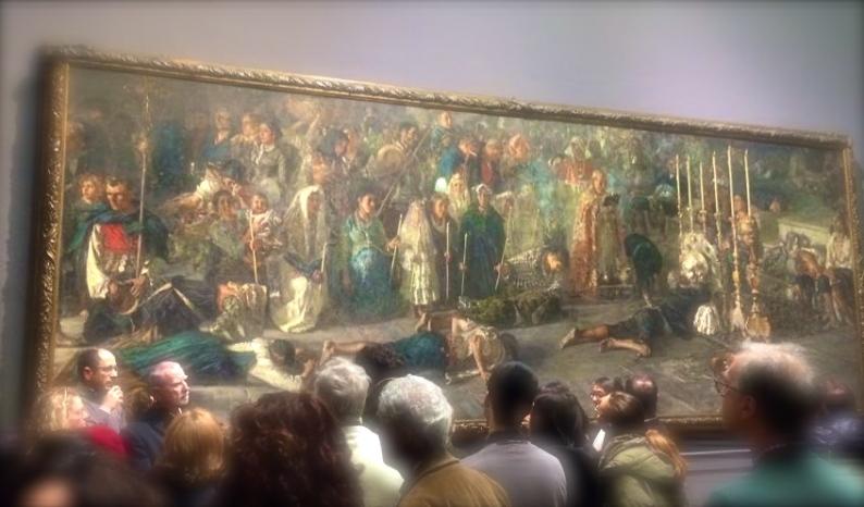 F.P.Michetti, Il Voto, Galleria Nazionale d'Arte Moderna, Roma marzo 2015