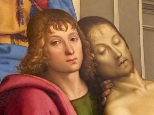 Pietro Perugino, Deposizione, dettaglio, Galleria degli Uffizi - Firenze, marzo 2015