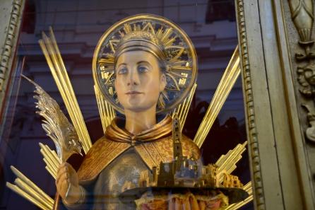 Miglianico, statua di San Pantaleone, luglio 2015