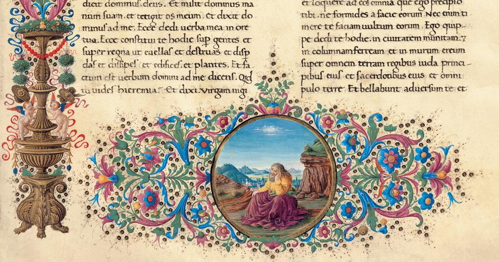 Saturnino Gatti, Visione di Geremia - facsimile della Bibbia di Federico da Montefeltro, concessione Franco Cosimo Panini Editore (2003-2005)