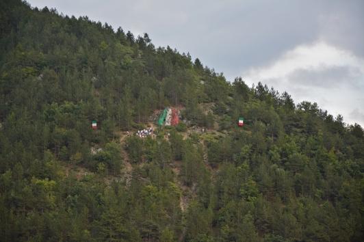 Gli atleti arrivati sulla montagna - Pacentro, settembre 2015