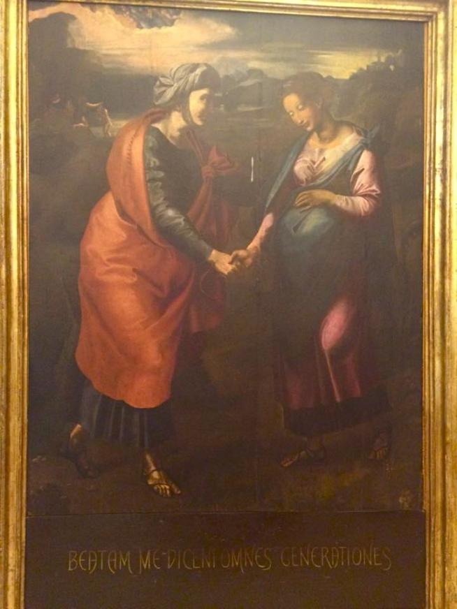 Visitazione, copia da un originale di Raffaello Sanzio - Giulianova Museo dello Splendore, settembre 2015
