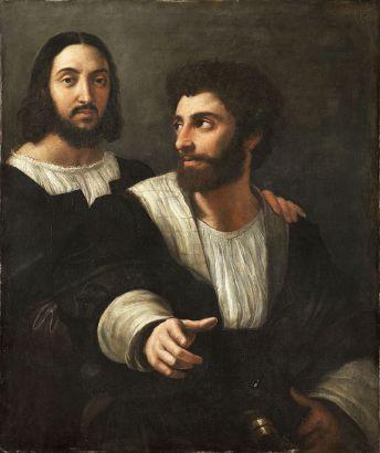 Raffaello e Giovambattista Branconio, autoritratto, 1519 - Parigi, Museo del Louvre