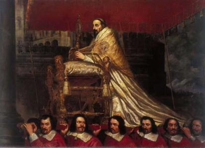 Alessandro VII sostenuto dai sediari pontifici - G.M.Morandi, 1667 - Nancy, Musée des Beaux-Arts