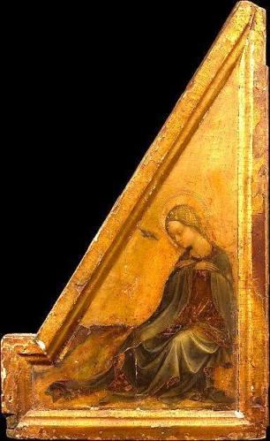 Andrea De Litio, Vergine Annunciata (frammento), 1450 - Metropolitan Museum New York