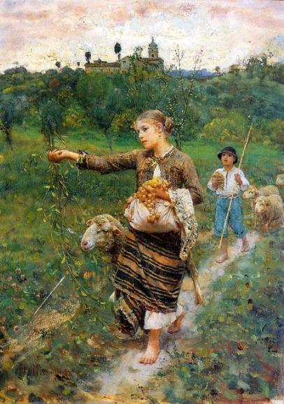 F.P.Michetti, La pastorella 1887 - Galleria d'Arte Moderna Roma