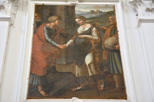 Visitazione, autore ignoto, chiesa di San Francesco, Città Sant'Angelo, gennaio 2016