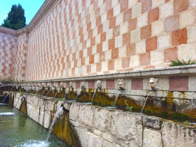 Fountain of the 99 Spouts, sec XIII-XV - L'Aquila, June 2015