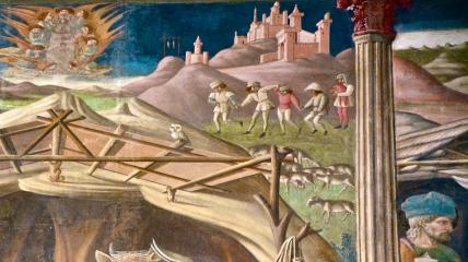 Contadini abruzzesi vestiti a festa, Andrea De Litio, affreschi Duomo di Atri - novembre 2015