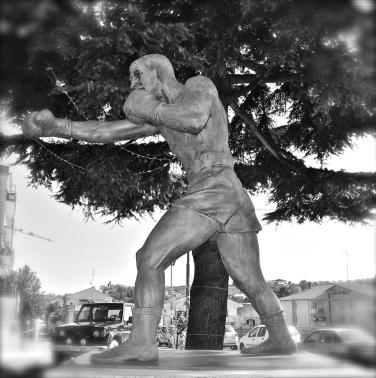 Rocky Marciano statue - Ripa Teatina - March 2016