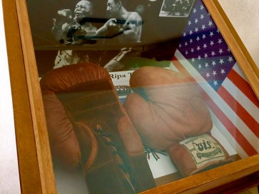 Rocky Marciano's boxing gloves, exposed to Ripa Teatina Town hall - March 2016
