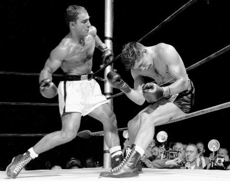 Rocky Marciano e Roland La Starza, 1953