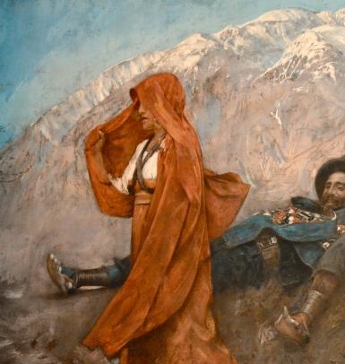 F.P.Michetti, La figlia di Iorio, 1894 - dettaglio - foto Leo De Rocco