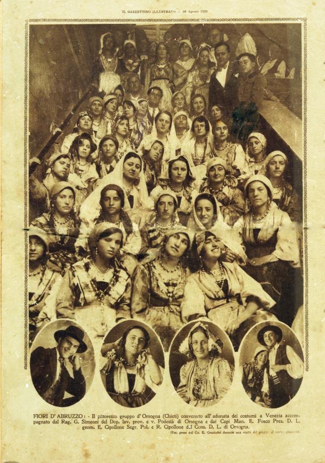 Donne di Orsogna a Venezia, primi del '900 - gentile concessione Museo delle Genti d'Abruzzo